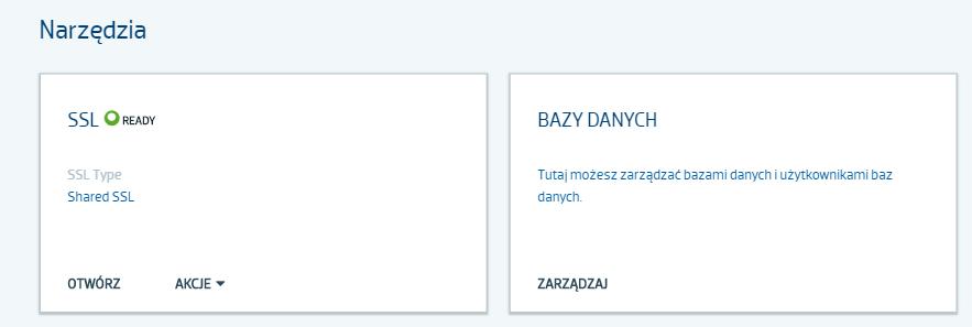 Moduł bazy danych w Panelu klienta strefa.pl