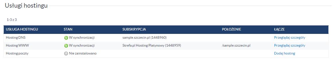 Dodawanie hostingu poczty do domeny