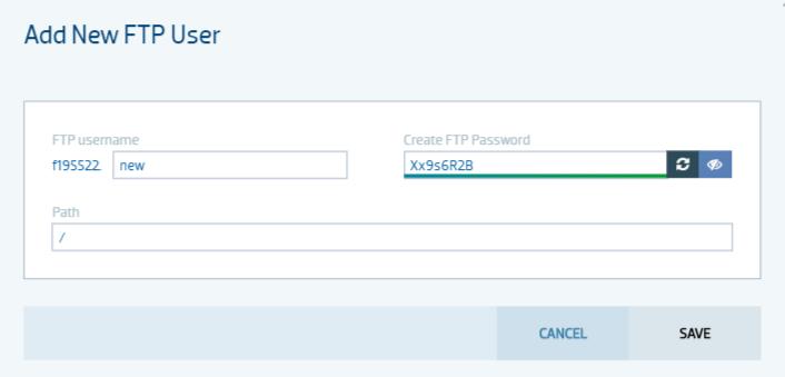 Nowy użytkownik serwera FTP